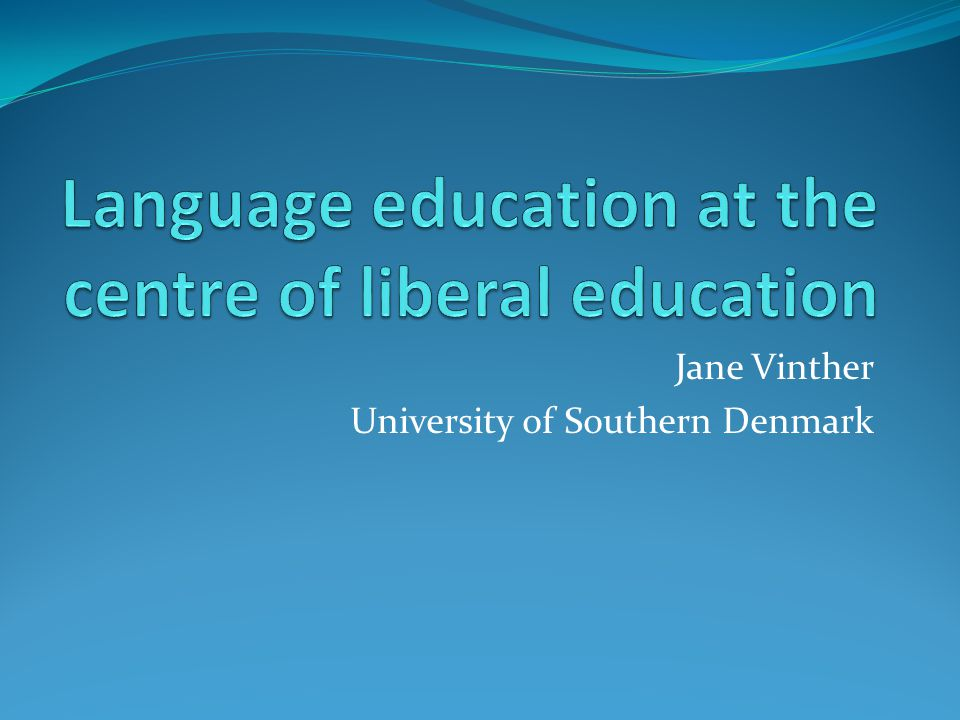 Jane Vinther University of Southern Denmark