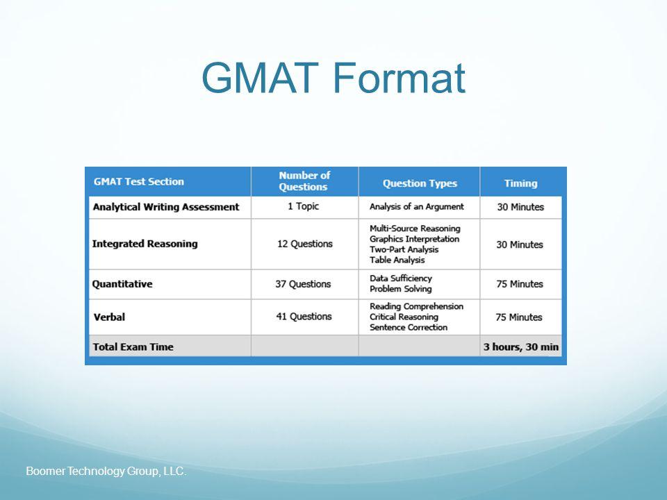 GMAT Format Boomer Technology Group, LLC.