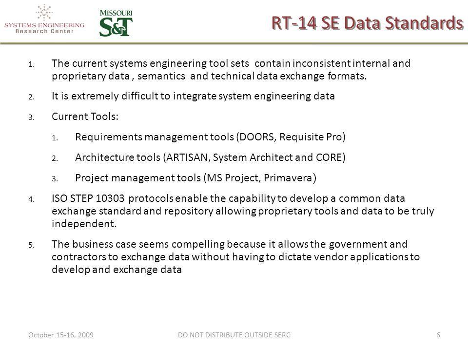RT-14 SE Data Standards 1.