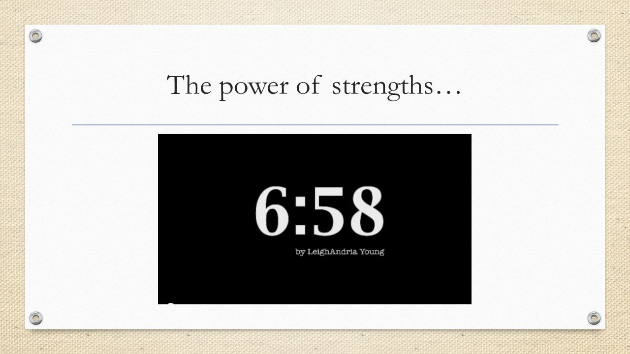 The power of strengths…