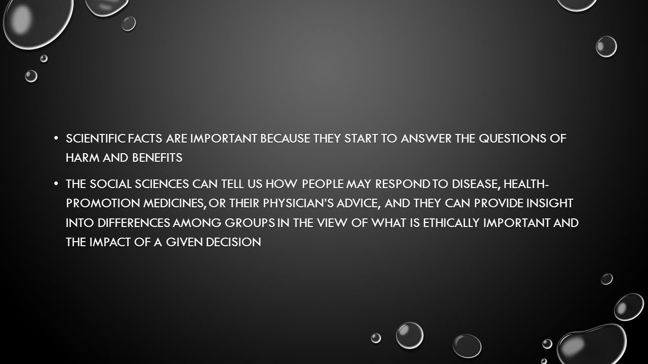 WHO OR WHAT COULD BE AFFECTED BY THE WAY THE QUESTION GETS RESOLVED.