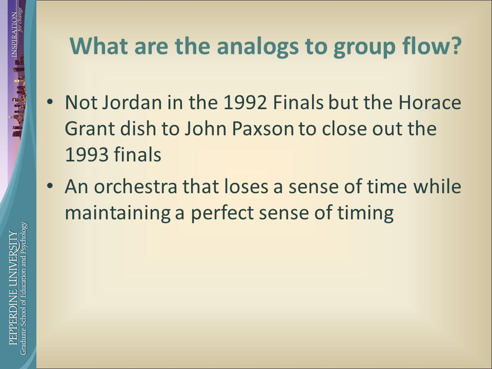 What are the analogs to group flow.