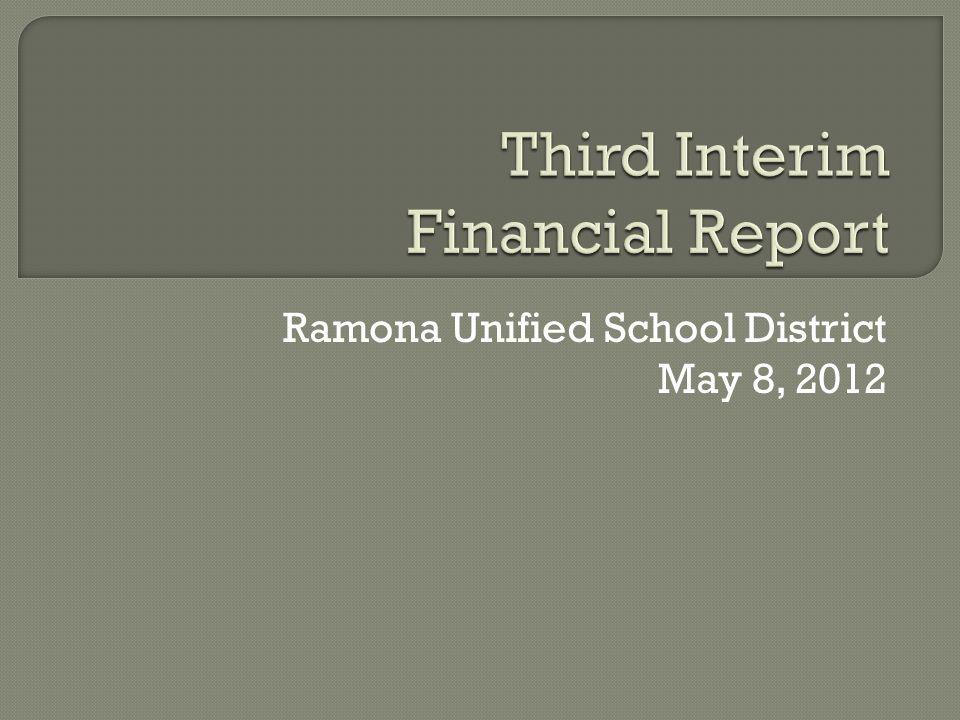 Ramona Unified School District May 8, 2012