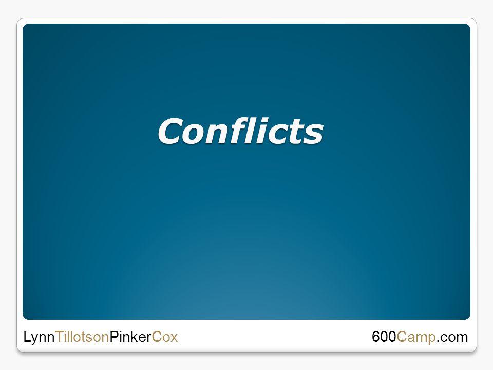 Conflicts Conflicts 600Camp.com LynnTillotsonPinkerCox