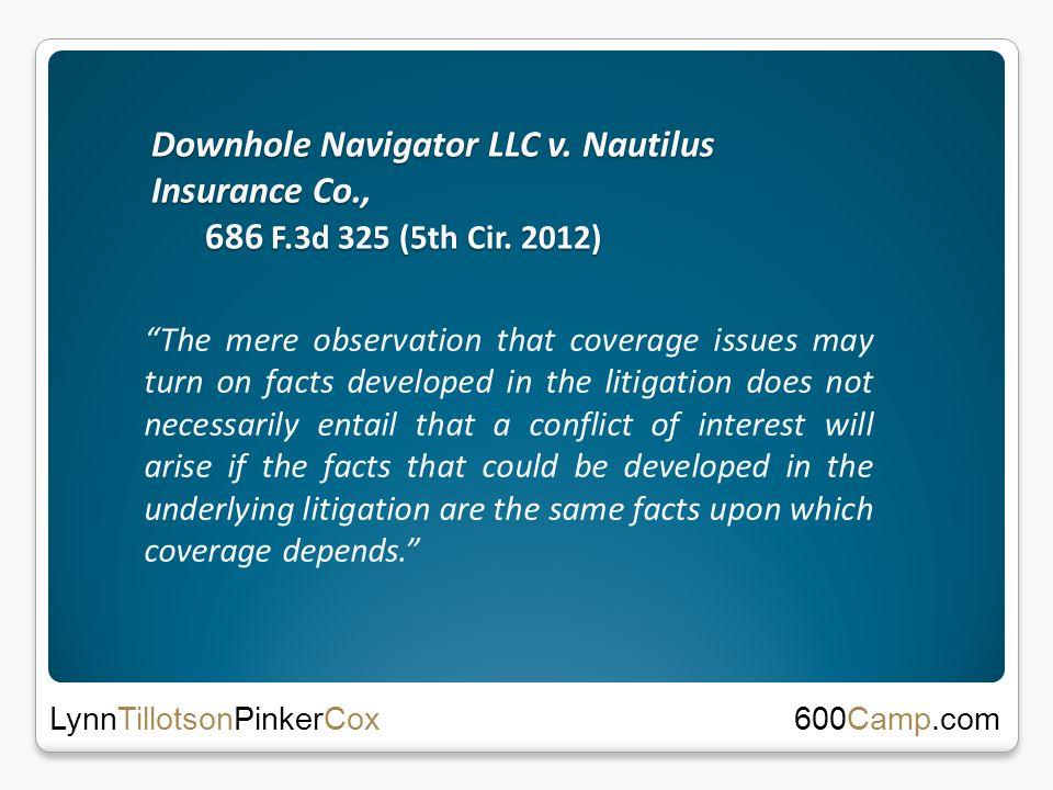 Downhole Navigator LLC v. Nautilus Insurance Co., 686 F.3d 325 (5th Cir.