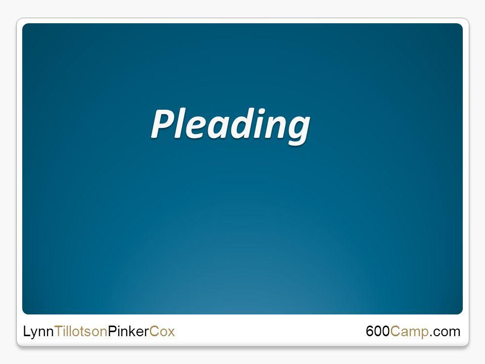 Pleading 600Camp.com LynnTillotsonPinkerCox