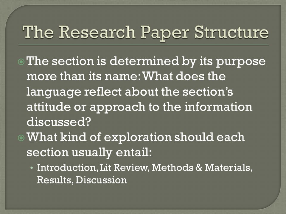  The section is determined by its purpose more than its name: What does the language reflect about the section's attitude or approach to the information discussed.