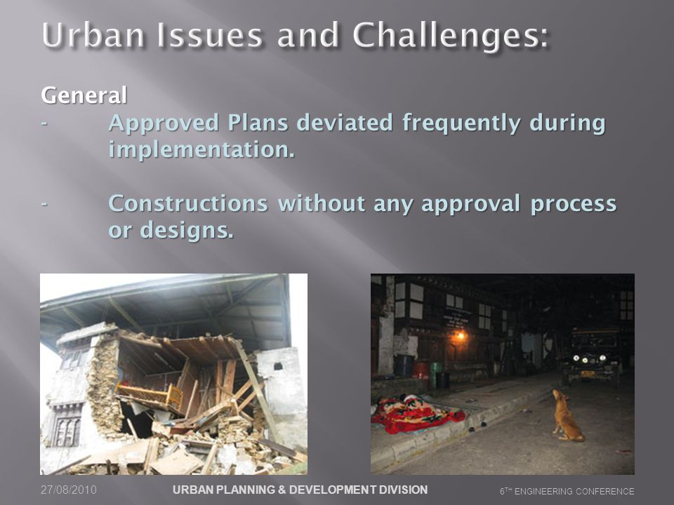 General -Approved Plans deviated frequently during implementation.