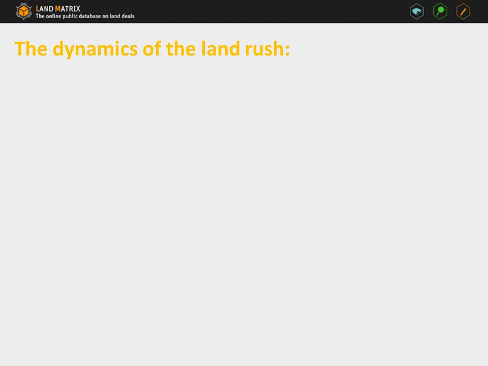 The dynamics of the land rush: