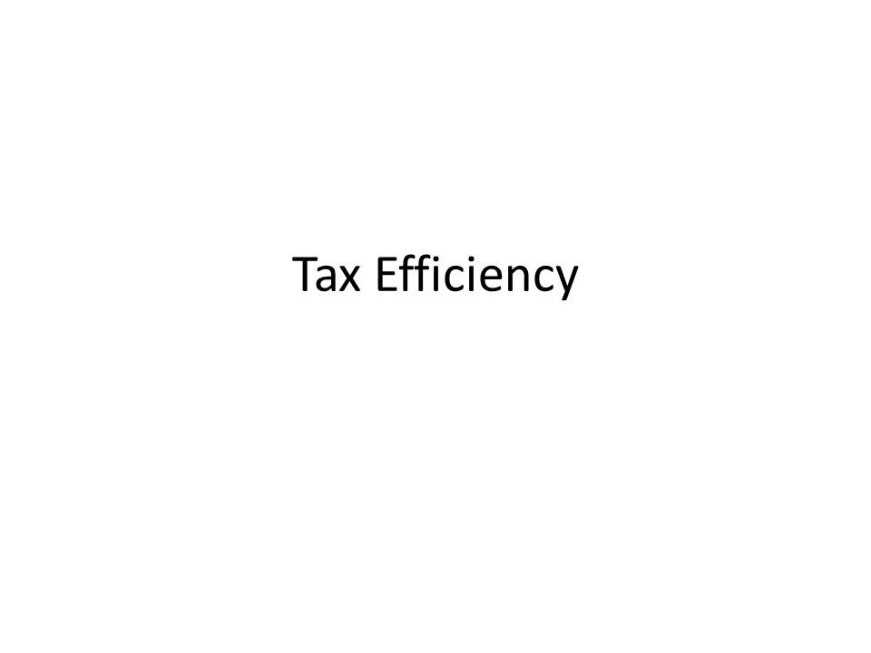 Policymakers have two objectives in designing a tax system... Ê Efficiency Ë Equity