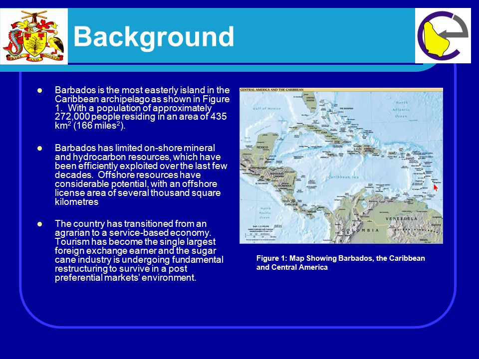 Background Barbados is the most easterly island in the Caribbean archipelago as shown in Figure 1.