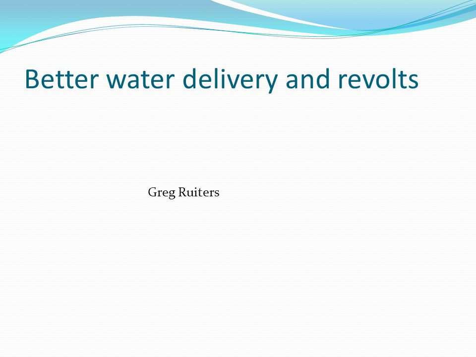 Way forward … what can we do Better information More focus on quality and maintenance of services Upgrade … on the water ladder ' ADD OTHER IDEAS … Siya bonga Enkosi