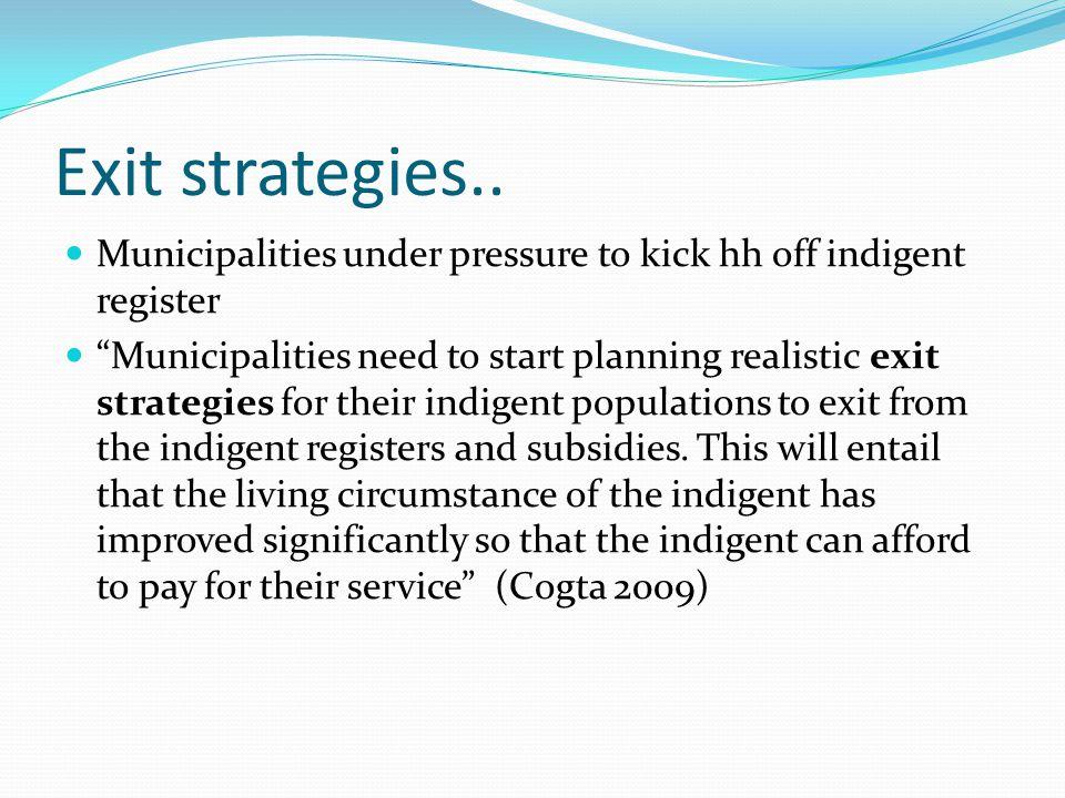 Exit strategies..