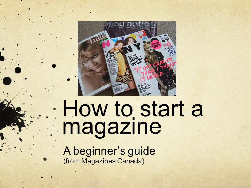 Got an idea for a magazine.The magazine publishing industry eats, sleeps and breathes ideas.