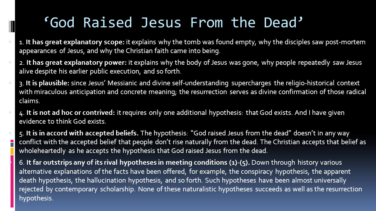 'God Raised Jesus From the Dead'  1.