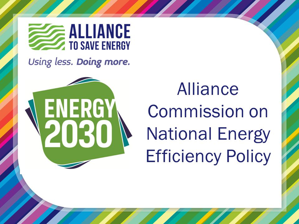 Alliance Commission on National Energy Efficiency Policy