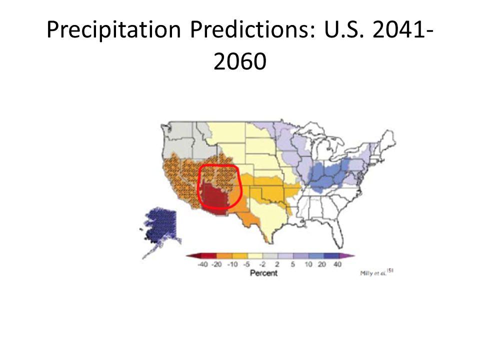 Precipitation Predictions: U.S. 2041- 2060