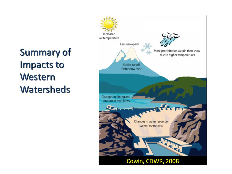 Cowin, CDWR, 2008 Summary of Impacts to Western Watersheds