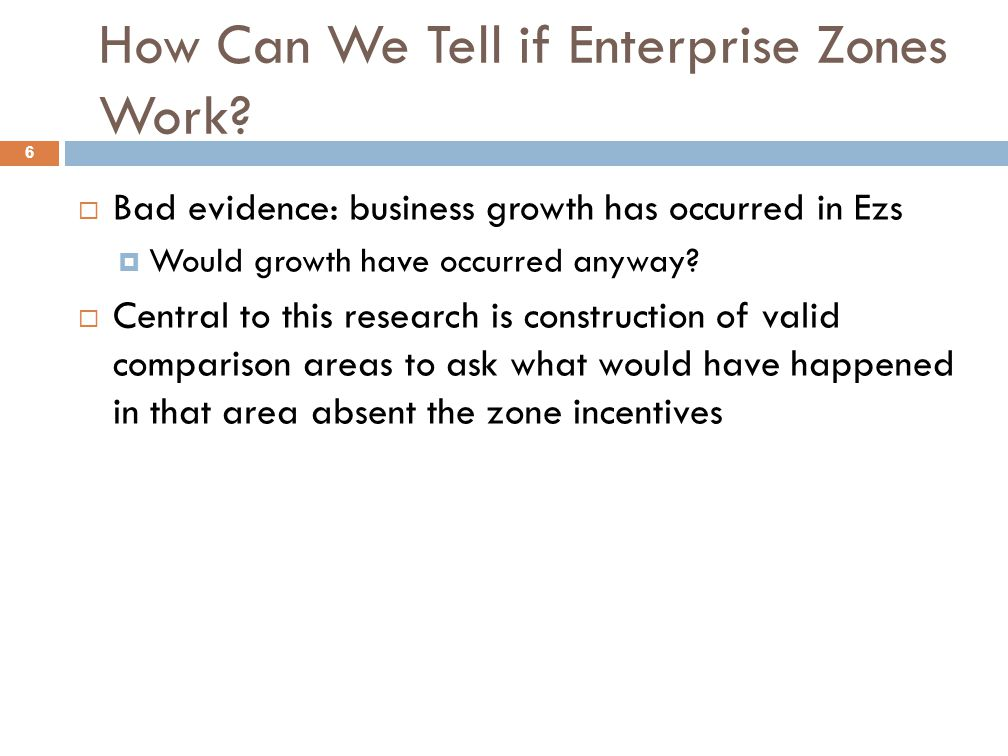 How Can We Tell if Enterprise Zones Work.