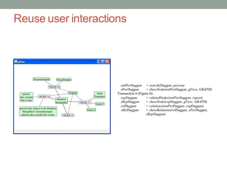 Reuse user interactions