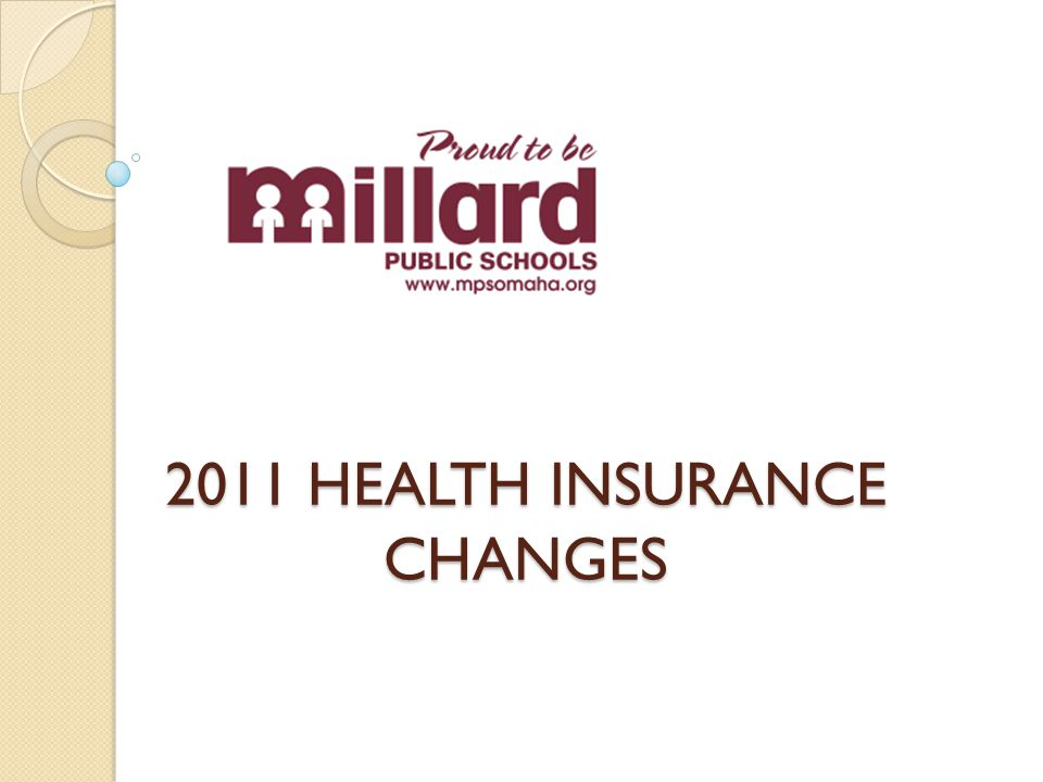 Why change the Health Plan.