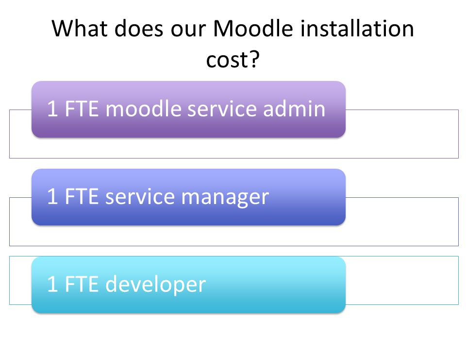 What does our Moodle installation cost.