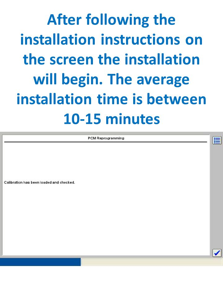After following the installation instructions on the screen the installation will begin. The average installation time is between 10-15 minutes
