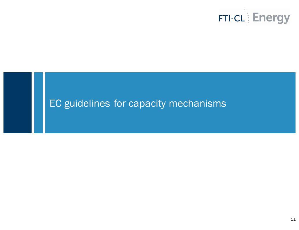 EC guidelines for capacity mechanisms 11
