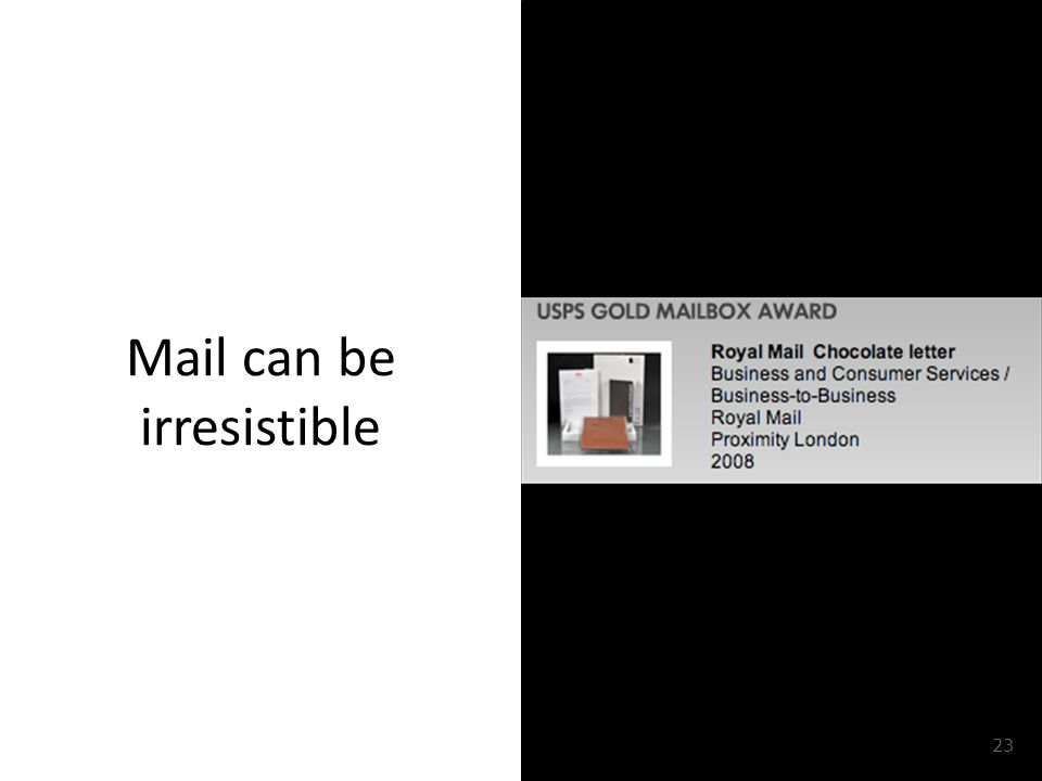 Mail can be irresistible 23
