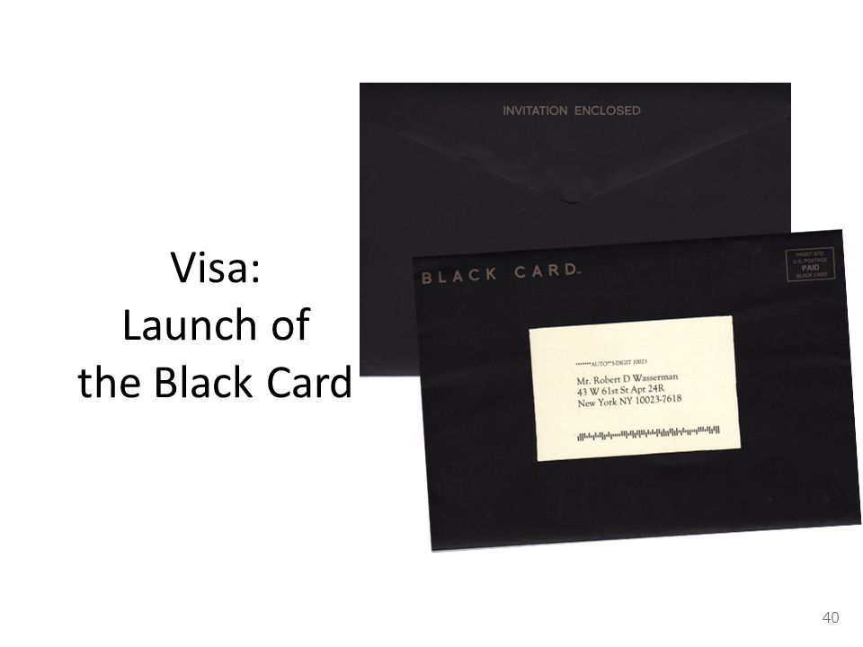 Visa: Launch of the Black Card 40