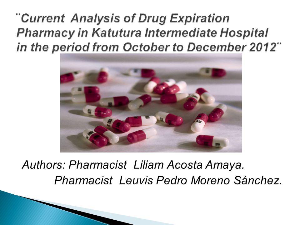 Authors: Pharmacist Liliam Acosta Amaya. Pharmacist Leuvis Pedro Moreno Sánchez.