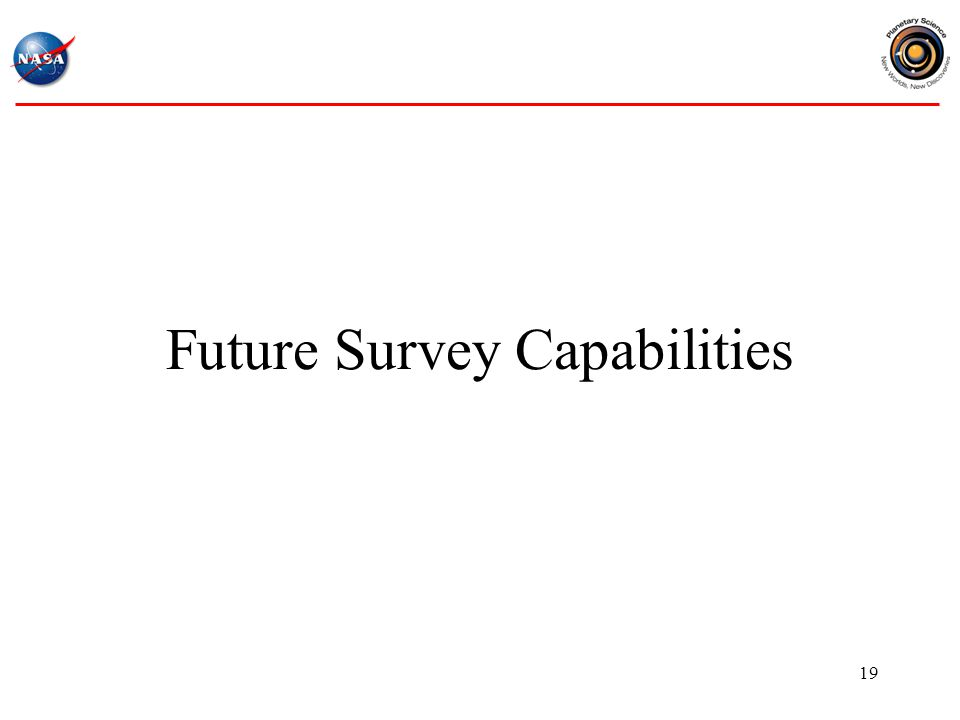 Future Survey Capabilities 19