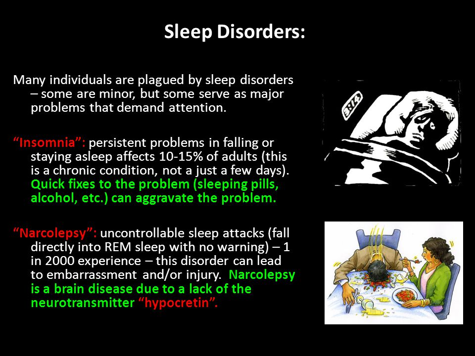 Sleep Disorders: Many individuals are plagued by sleep disorders – some are minor, but some serve as major problems that demand attention.