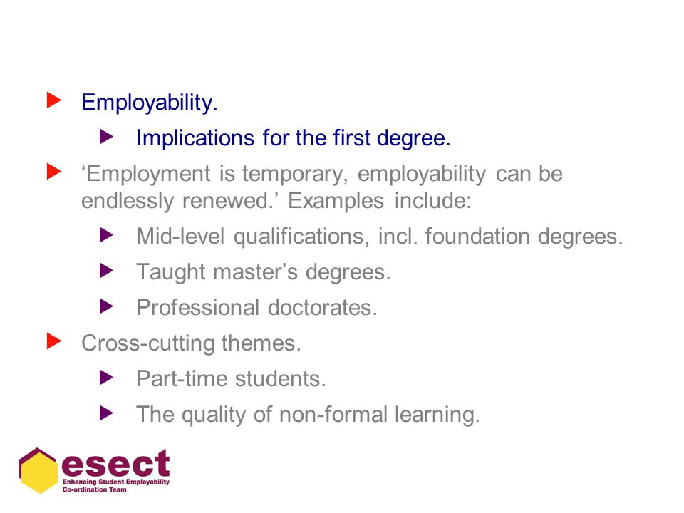 Employability and part-time students  Little, B.