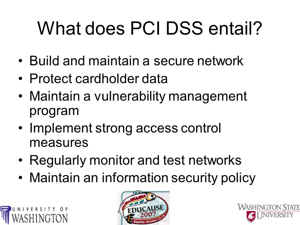 Fully understand/learn the PCI/DSS requirements Can't learn everything in a one hour session Where can you get information??.