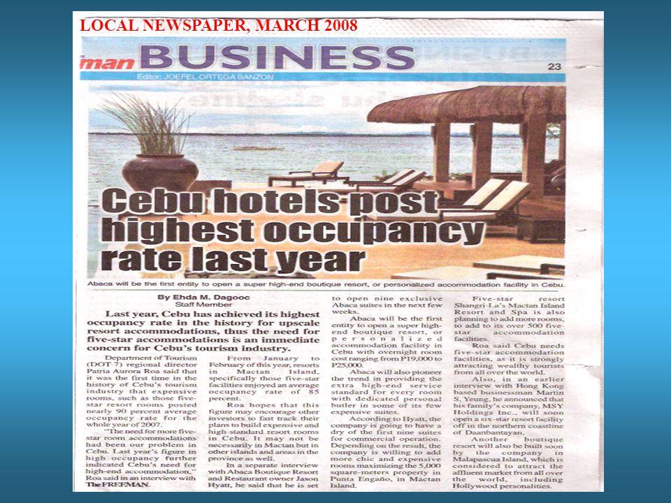 LOCAL NEWSPAPER, MARCH 2008