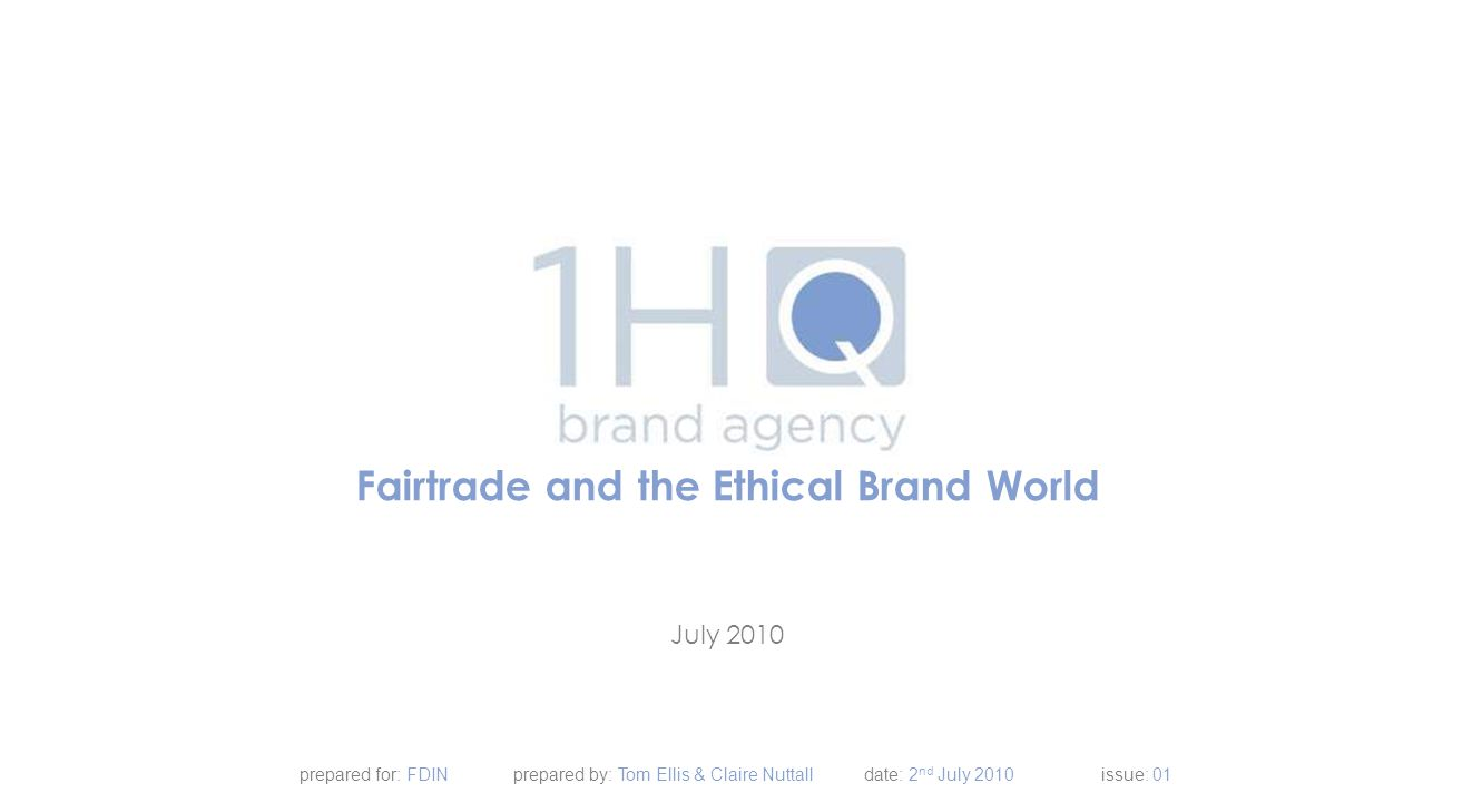 1.Background 2.What does Ethical mean to consumers 3.Exploring Ethical Brands 4.Looking into labels 5.Understanding successful brand communication 6.A look at packaging best practice 7.The role and effectiveness of symbols and icons 8.Summary of Learnings