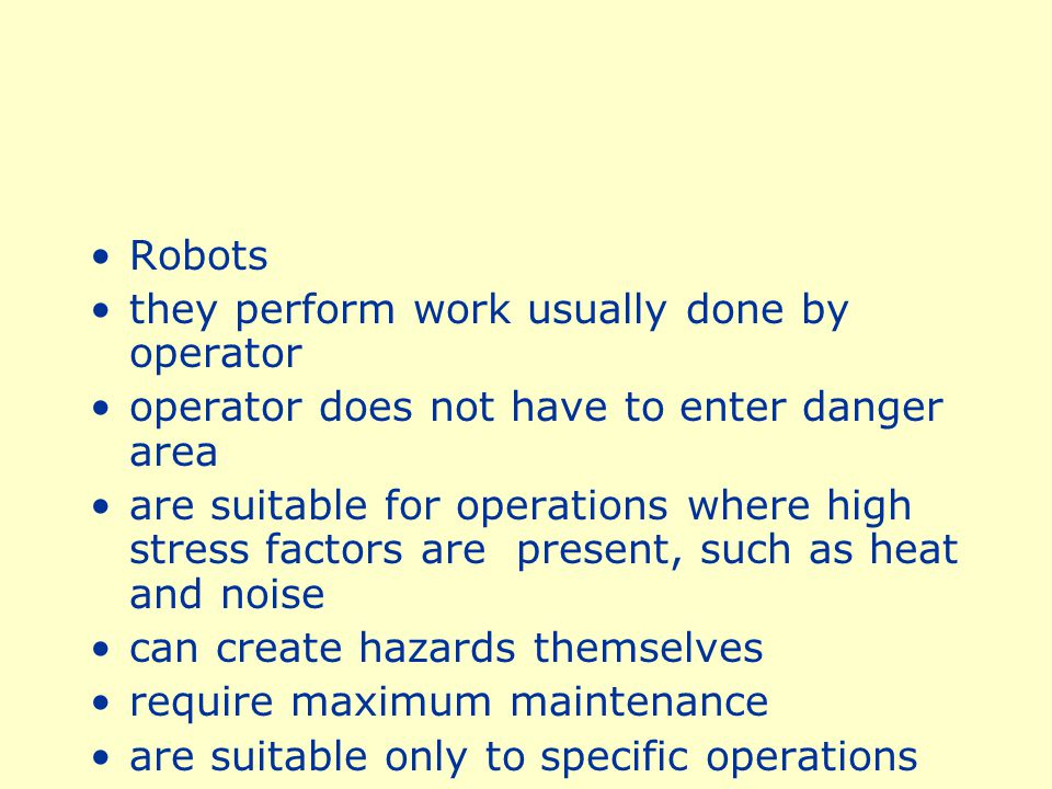 Semiautomatic Ejection work pieces are ejected by mechanical means which are initiated by the operator operator does not have to enter danger area to remove finished work other guards are required for operator protection may not be adaptable to stock variation