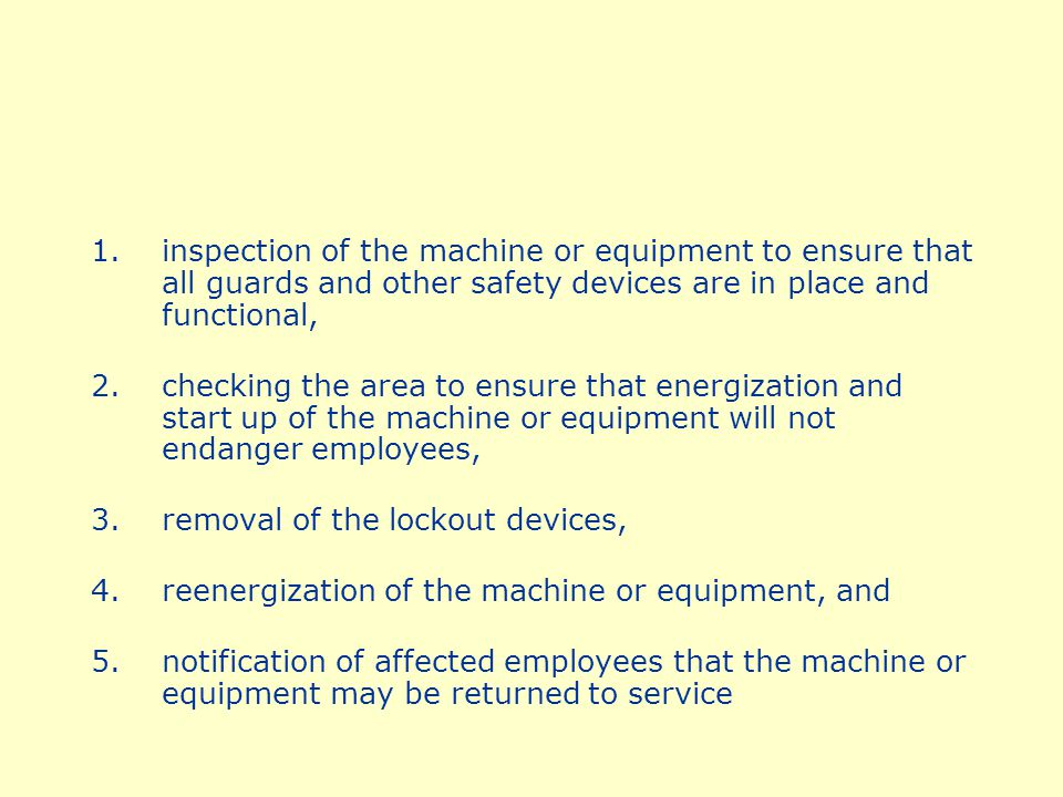 Although this is the general rule, there are exceptions when the servicing or maintenance is not hazardous for an employee, when the servicing which is conducted is minor in nature, done as an integral part of production, and the employer utilizes alternative safeguards which provide effective protection as is required by specific standards.