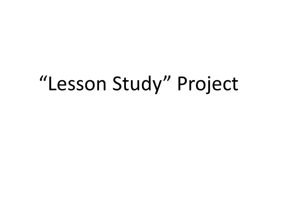 Lesson Study Project