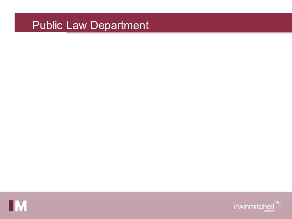Public Law Department