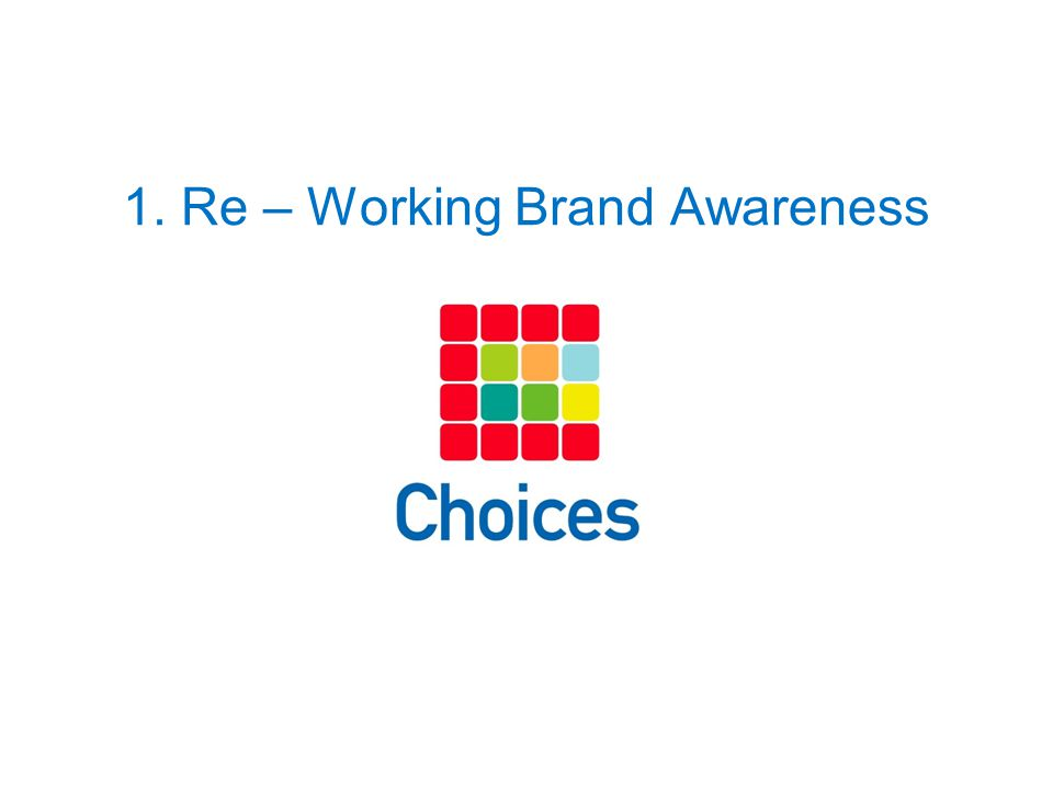 1. Re – Working Brand Awareness