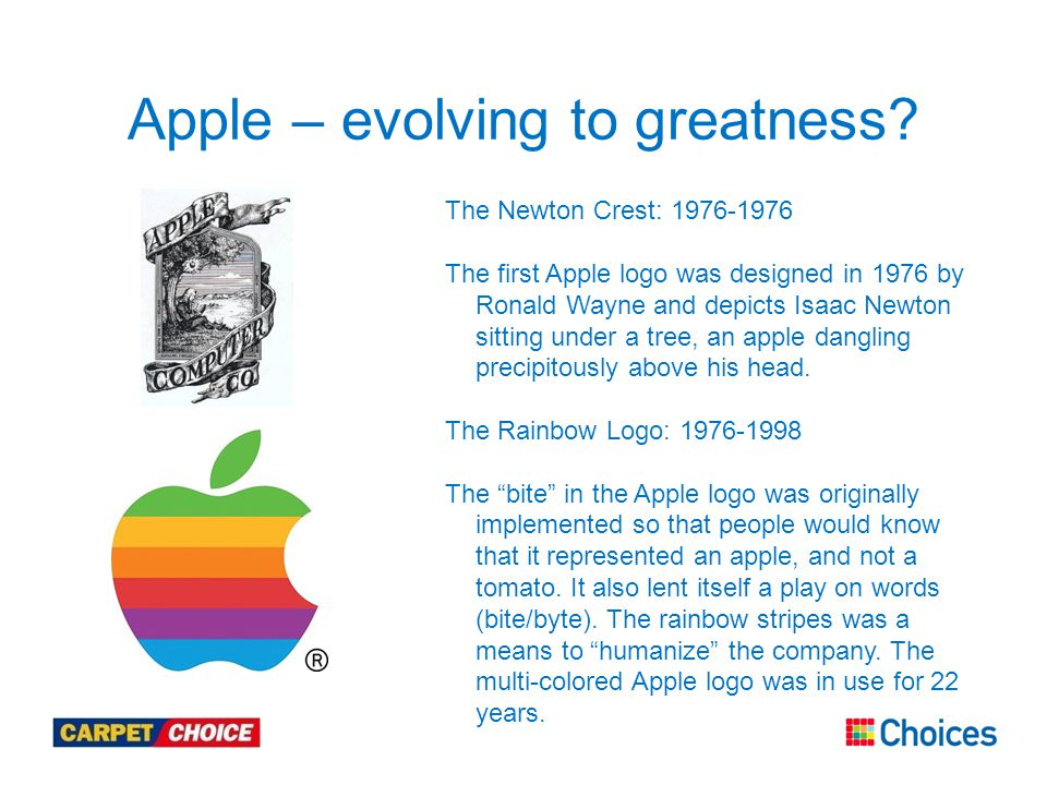 Apple – evolving to greatness.