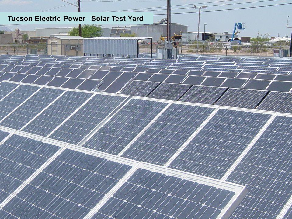 Tucson Electric Power Solar Test Yard