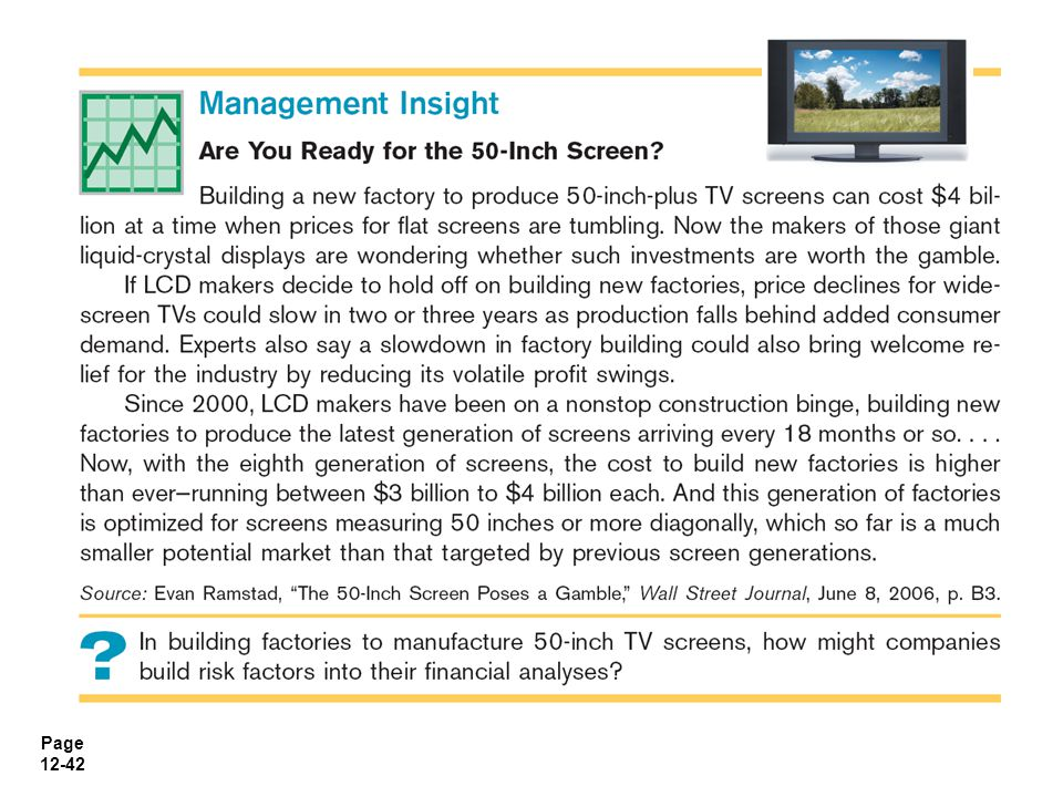 Page 12-43 Post-Audit of Investment Projects Performing a post-audit is important.