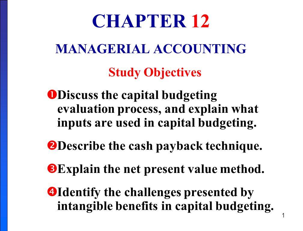 11 Net Present Value Decision Criteria
