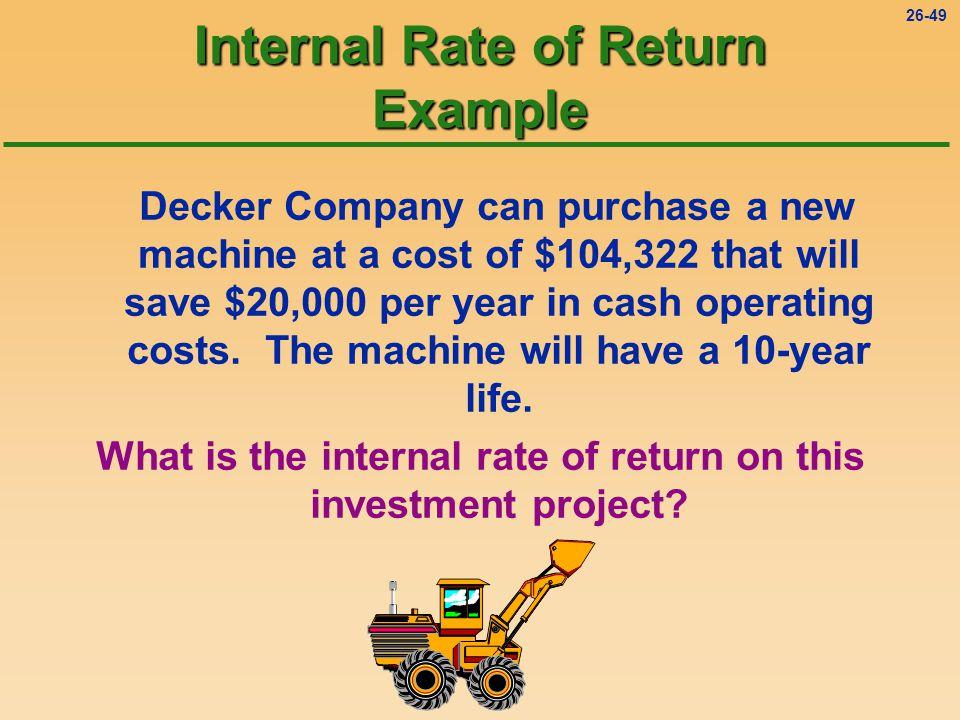 26-48 Internal Rate of Return (IRR) Procedure 1.Determine the payback period.