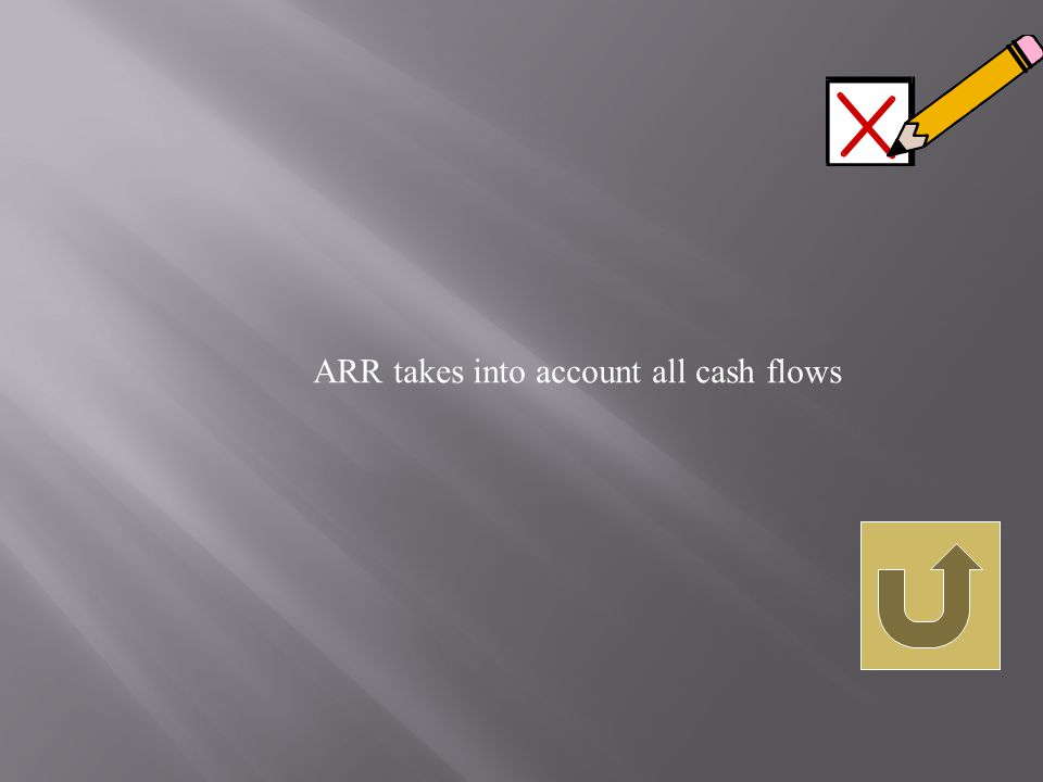ARR takes into account all cash flows