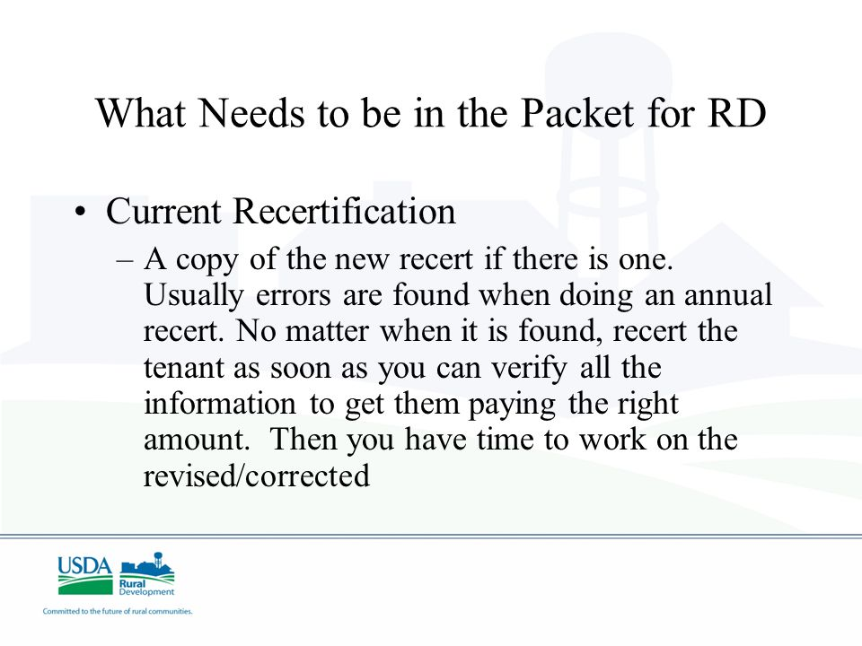 Current Recertification –A copy of the new recert if there is one.
