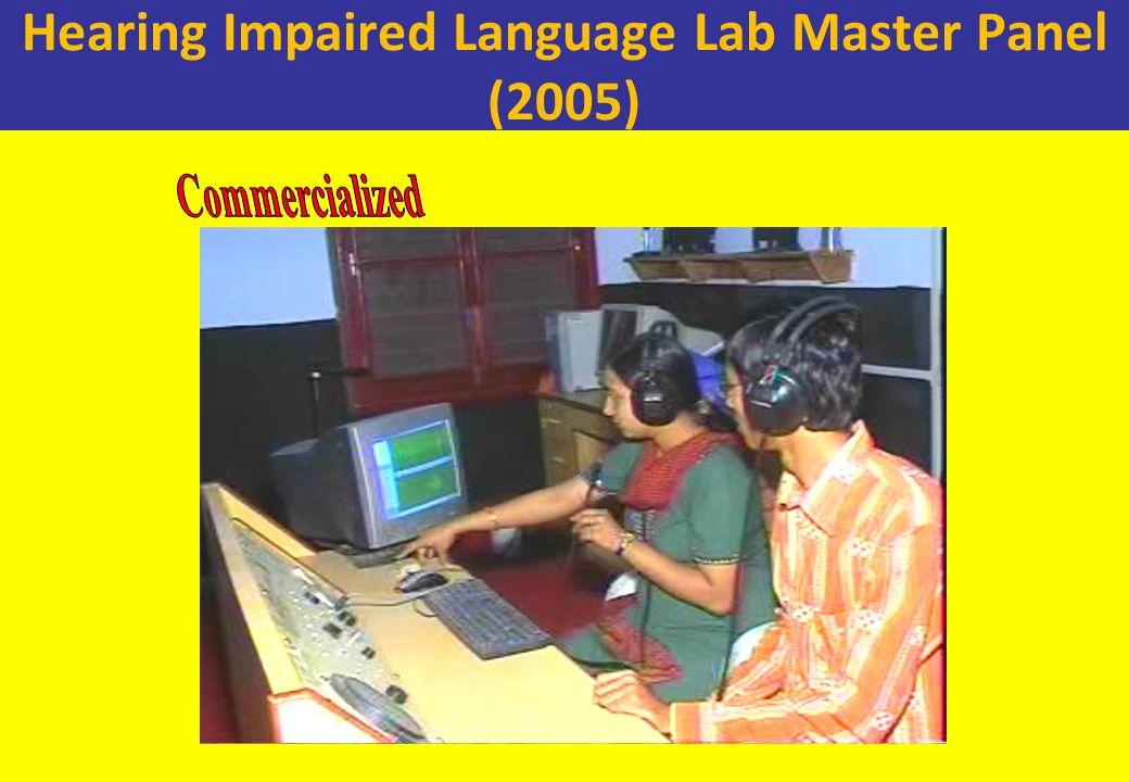 Hearing Impaired Language Lab Master Panel (2005)